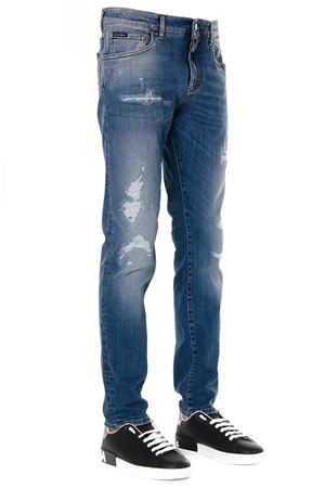 JEANS IN DISTRESSED DENIM DI COTONE  AI 2019 DOLCE & GABBANA | 4 | GY07CZG8BF1S9001