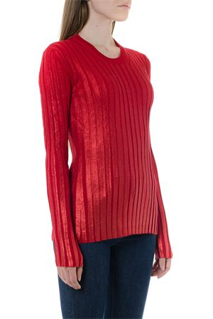 RED RIBBED BLEND WOOL KNITWEAR FW 2019 DONDUP | 16 | DM305M00692V581500