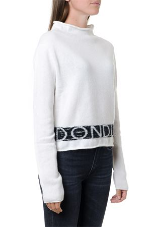 WHITE & BLACK WOOL-CASHMERE BLEND JUMPER FW 2019 DONDUP | 16 | DM339M00693N141001