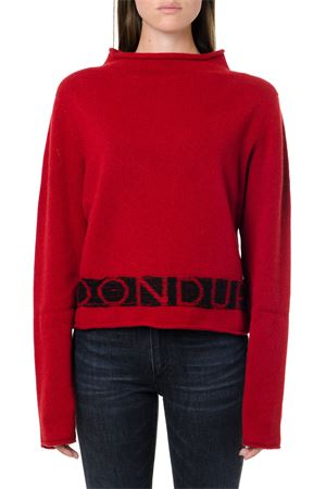 RED & BLACK WOOL-CASHMERE BLEND JUMPER FW 2019 DONDUP | 16 | DM339M00693N141500