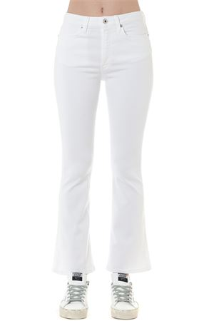 WHITE COTTON BELL-BOTTOM JEANS FW 2019 DONDUP | 4 | DP449BS0013PTDAMANDA000
