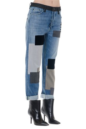 JEANS HELLEN  IN COTONE DENIM CON DESIGN PATCH WORK AI 2019 DONDUP | 4 | DP468DS0257W95HELLEN800