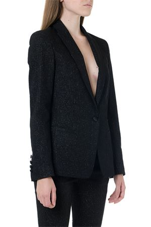 BLACK LUREX SINGLE BREAST JACKET FW 2019 DONDUP | 14 | J615ES0046Z38199A