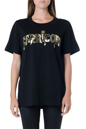 CAPRICORN EMBELLISHED BLACK COTTON T-SHIRT FW 2019 DONDUP | 15 | S653JF0243DZ641999
