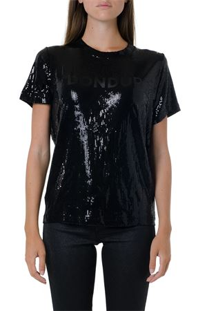 BLACK SEQUINS COVERED T-SHIRT FW 2019 DONDUP | 15 | S653OS0100XXX1999