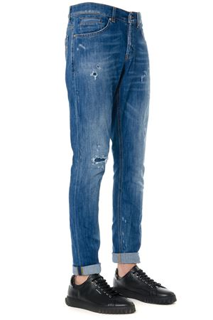 JEANS IN DENIM BLU EFFETTO VISSUTO AI 2019 DONDUP | 4 | UP232DS0107W37GEORGE800
