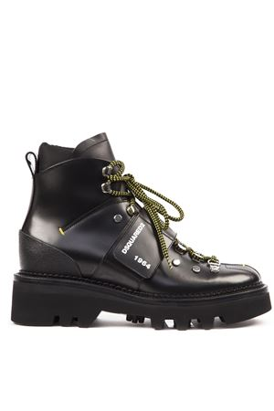 BLACK HECTOR LEATHER ARMY BOOT FW 2019 DSQUARED2   52   ABM0040249000012124