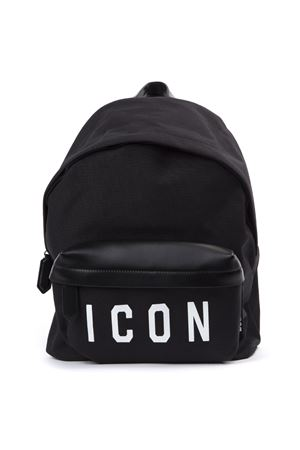 BLACK ICON CANVAS & LEATHER BACKPACK FW 2019 DSQUARED2   183   BPM001916802214M063