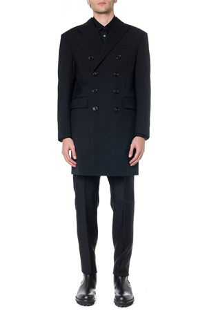BLACK VIRGIN WOOL DOUBLE-BREASTED COAT FW 2019 DSQUARED2 | 31 | S71AA0348S36258900