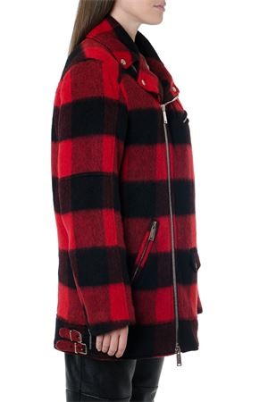 RED & BLACK CHECKED WOOL BLEND COAT FW 2019 DSQUARED2 | 31 | S72AM0758S52238001F