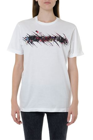 WHITE COTTON MULTICOLOR PRINTED T-SHIRT FW 2019 DSQUARED2 | 15 | S72GD0168S22427100