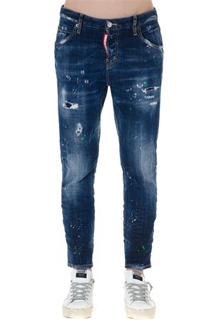 STONE WASHED TEARED BLUE COTTON JEANS FW 2019 DSQUARED2 | 4 | S72LB0209S30342470