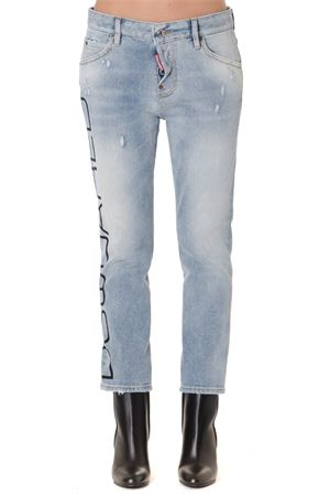 COOL GIRL LIGHT DENIM CROPPED JEANS FW 2019 DSQUARED2 | 4 | S72LB0224S30662470
