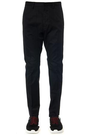 BLACK COTTON PANTS FW 2019 DSQUARED2 | 8 | S74KB0314S41794900