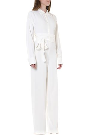 WHITE VISCOSE FLARED JUMPSUIT FW 2019 DSQUARED2 | 23 | S75FP0071S52079100