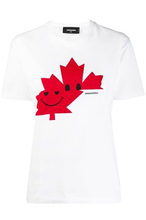 WHITE CANADIAN COTTON T-SHIRT FW 2019 DSQUARED2 | 15 | S75GD0018S23009100