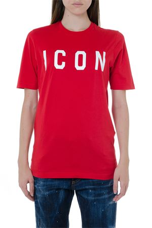 ICON RED COTTON T-SHIRT FW 2019 DSQUARED2 | 15 | S75GD0040S22427967X