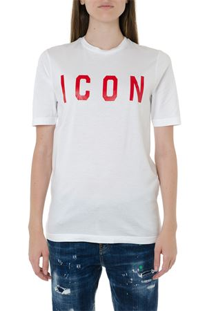 T-SHIRT ICON BIANCA IN COTONE AI 2019 DSQUARED2 | 15 | S75GD0040S22427989X
