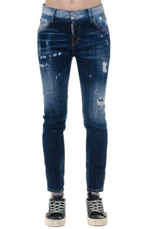 DARK BLUE FADED COTTON TEARED JEANS FW 2019 DSQUARED2 | 4 | S75LB0190S30342470