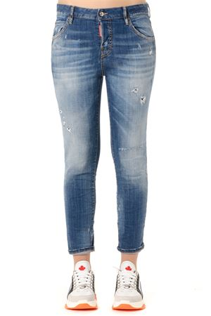 CLOUDY DISTRESSED SKINNY JEANS SS 2019 DSQUARED2 | 4 | S75LB0200S30342470