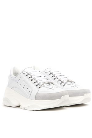 WHITE OVERSIZE LEATHER SNEAKERS FW 2019 DSQUARED2 | 55 | SNW004106500001M1048