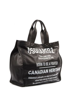 BORSA SHOPPING CANADIAN HERITAGE NERA IN PELLE AI 2019 DSQUARED2 | 2 | SPW002201500001M063