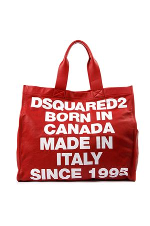 BORSA BORN IN CANADA ROSSA IN PELLE AI 2019 DSQUARED2 | 2 | SPW002201500001M818