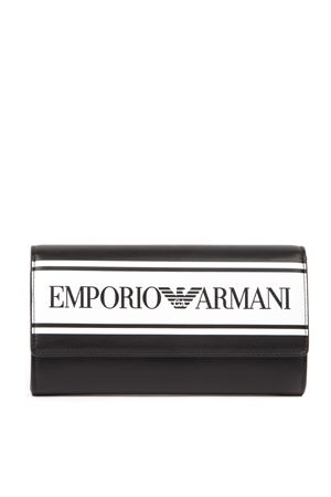 BLACK FAUX LEATHER WALLET FW 2019 EMPORIO ARMANI | 34 | Y3H170YFG7A88007