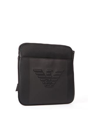 BLACK EMBOSSED LOGO SHOULDER BAG FW 2019 EMPORIO ARMANI | 2 | Y4M177YFE6J81072