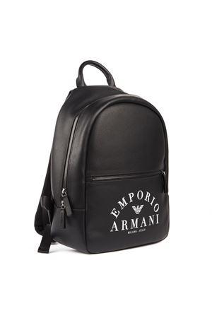 BLACK FAUX LEATHER LOGO BACKPACK FW 2019 EMPORIO ARMANI   183   Y4O165YFE5J83896