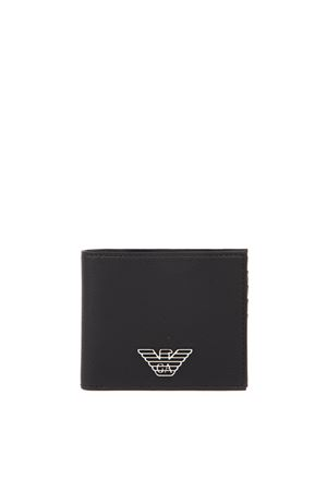 BLACK FAUX LEATHER EAGLE WALLET FW 2019 EMPORIO ARMANI | 34 | Y4R168YLA0E81072