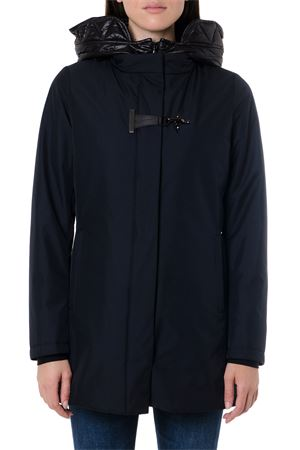 BLACK HOODIE DOWN JACKET WITH POLYESTER PANELS FW 2019 FAY | 27 | NAW13393930QKJU808