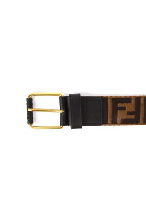 BROWN BELT WITH EMOSSED LOGO FW 2019 FENDI | 12 | 7C0367A4K9F147Y