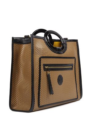 BEIGE AND BROWN LEATHER RUNAWAY TOTE BAG FW 2019 FENDI | 2 | 8BH360A94OF18MR