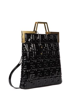 BORSA CON MONOGRAMMA ALL OVER IN VINILE NERO AI 2019 FENDI | 2 | 8BH362A9X4F0KUR