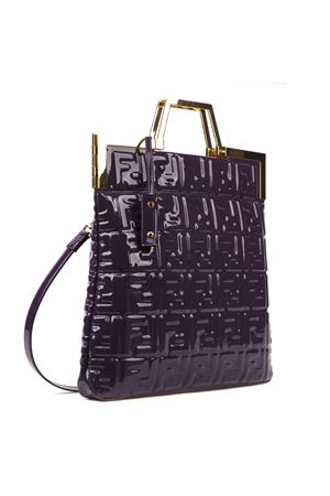 BORSA CON MONOGRAMMA ALL OVER IN VINILE VIOLA AI 2019 FENDI | 2 | 8BH362A9X4F0TWB