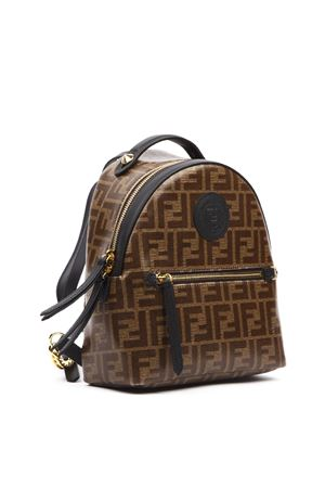 BROWN MONOGRAM MINI BACKPACK FW 2019 FENDI | 183 | 8BZ038A5K4F14TU
