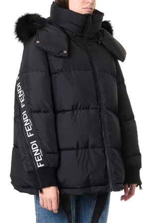 BLACK LOGO BANDS DOWN JACKET FW 2019 FENDI | 27 | FAA432A8WUF0GME