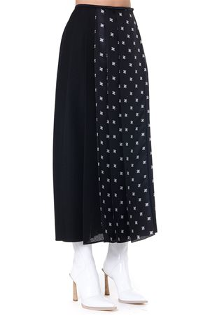 BLACK FF PRINT SILK LONG SKIRT FW 2019 FENDI | 26 | FQ7113A8GYF0GME