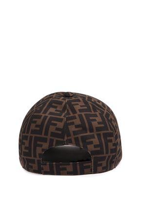 052ef200c61c35 BROWN AND RED LOGO BASEBALL CAP FW 2019 - FENDI - Boutique Galiano