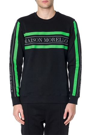 BLACK AND GREEN COTTON SWEATSHIRT WITH LOGO FW 2019 FRANKIE MORELLO | 19 | FMCF9012FEUNIN01