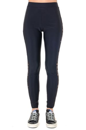 BLACK EMBROIDERED LOGO LEGGINGS FW 2019 GCDS | 230 | CC94W0302101BLACK