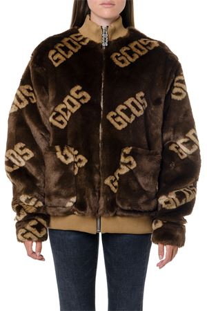 BROWN ECO FUR ALL OVER LOGO JACKET FW 2019 GCDS | 27 | FW20M0400021BROWN