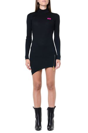 BLACK RIBBED SHORT SYNTHETIC DRESS FW 2019 GCDS | 32 | FW2W0200511BLACK