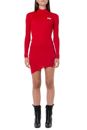 RED RIBBED SYNTHETIC SHORT DRESS FW 2019 GCDS | 32 | FW2W0200511RED