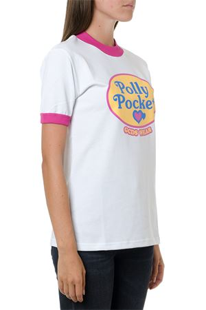 WHITE POLLY POCKET COTTON T-SHIRT FW 2019 GCDS | 5 | PP20W0200321WHITE