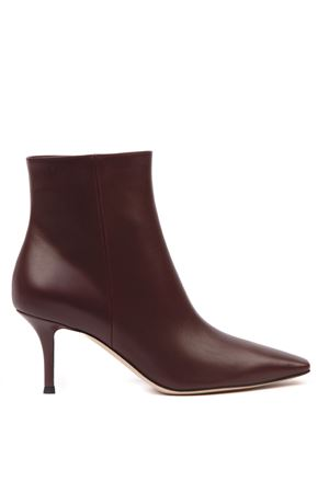 BORDEAUX LEATHER STILETTO ANKLE BOOTS FW 2019 GIANVITO ROSSI | 52 | G0560670RICROYALE