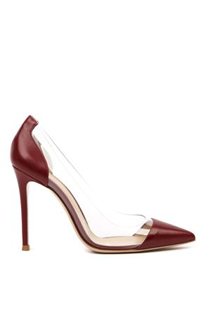 BURGUNDY LEATHER AND PLEXIGLASS PUMPS FW 2019 GIANVITO ROSSI | 68 | G2014015RICPLEXI