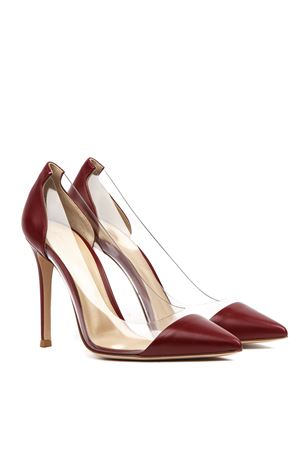 RED LEATHER AND PLEXIGLASS PUMPS FW 2019 GIANVITO ROSSI | 68 | G2014015RICPLEXI