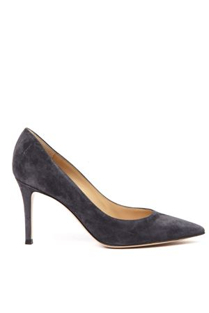 DARK GREY SUEDE PUMPS FW 2019 GIANVITO ROSSI | 68 | G2458085RICCAMOSCIO